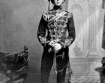 Young Winston Churchill from 1895 Vintage Victorian Era Photography Imperial England English British Empire Black and White Photo Print