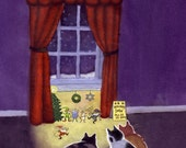 Christmas Hanukkah Card - Funny Cat Hanukkah Christmas Card - Cat and Mouse Holiday Greeting Card