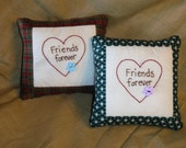 Friends Forever Mini Pillow with Counting Blessing Poem