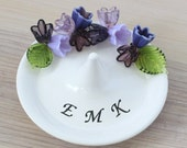 Monogram ring dish, jewelry dish, custom ring dish