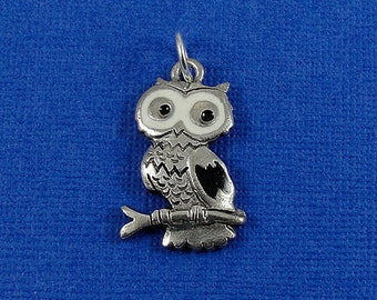Owl Charm - Silver Plated Owl Charm for Necklace or Bracelet