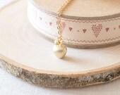 Apple Charm Necklace. Apple Necklace. Fruit Charm Necklace. Gold Charm Necklace. Teacher Gift Idea.