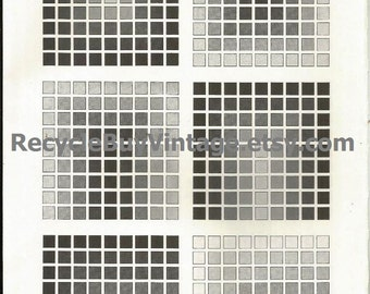 vintage 1970's optic illusion pattern art print book plate black & white pop art design retro home decor mod geometric picture wall 69 70