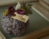 Fabric Pumpkin Give Thanks