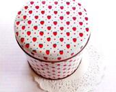 Vintage Candy Tin  / English Tin / Strawberry Tin