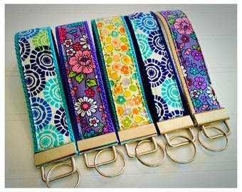 Key Fob, Wristlet Key Fob, Mini Key Fob, Keychain - Choose your design and size