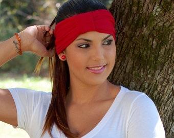 Turban Headband, Red Turban, Workout Turban, Modest Turban, Crimson Trendy Turban (#1505) S M L X