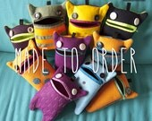 Felt Monster Case // made to order // choose your colors // felt monster, pencil case, felt pencil case, monster pencil case, gifts