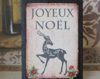 Paris Christmas Decor French Joyeux Noel Decoration Sign