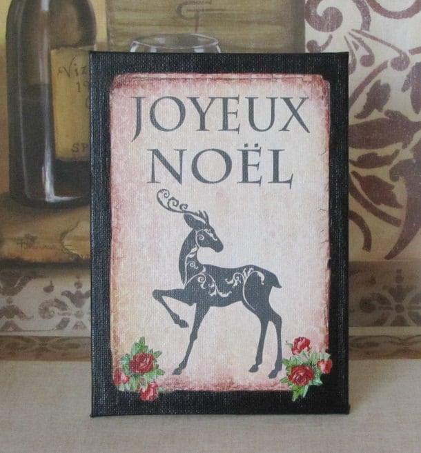 Paris Christmas Decorations: Paris Christmas Decor French Joyeux Noel Decoration Sign