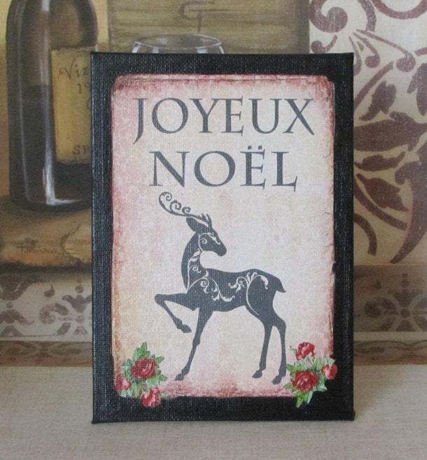 paris christmas decor french joyeux noel decoration sign. Black Bedroom Furniture Sets. Home Design Ideas