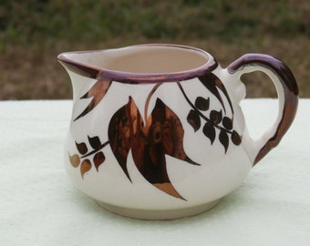 Sandland Ware Copper Luster Leaf Creamer Hanley, Made in England