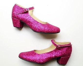 Biba Glitter Mary Janes heels (Handmade to order)