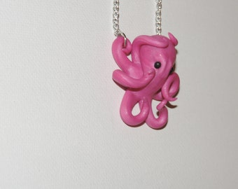 pink octopus necklace