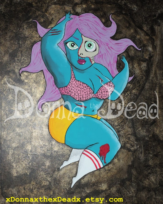 Plus Size Zombie Pinup 7 8x10 Art prints for all living