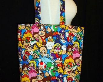Mario Bros Tote Bag - Nintendo Character Bag