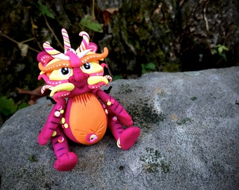 Polymer Clay Dragon 'Bristol' Inspired by Chinese Legend Folklore - Limited Edition Handmade Collectible