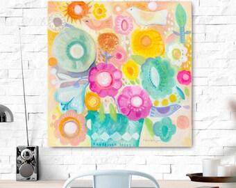Spring. Original painting. Original art, folk art, flowers, wall decor.