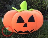 Halloween Pumpkin life size - Halloween Plush Jack O'Lantern - Spooky Carved Pumpkin Kids Toy -  Kids Pretend Carved Pumpkin Plush OOAK