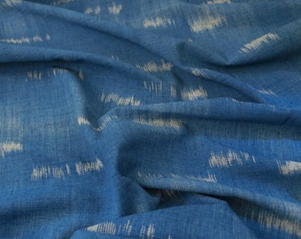 NEW ARRIVAL - SKUF05: Indigo Fabric - Random ikat style