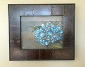 Original framed oil painting 15x13 hydrangeas: Remembrance