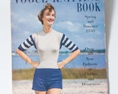 Vogue Knitting Book 1950 Vintage 50s Fashion Magazine