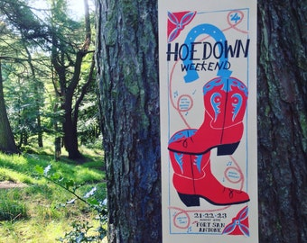 Hoedown Weekend 2015 Limited Edition Poster