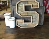 Wood Letter S - wall decor - buy as-is or we can paint (#597-S)