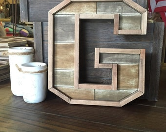 Wood Letter G - wall decor - buy as-is or we can paint (#597-G)