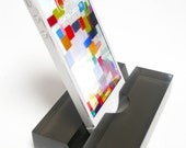 Smoke Groove Translucent Resin Groove iPhone Stand, Cell Phone Stand-Great Stocking Stuffer!