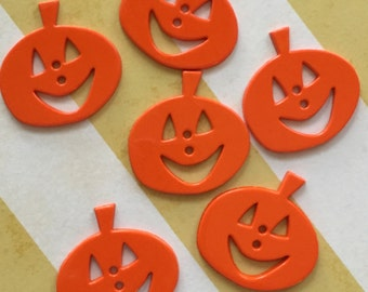 Pumpkin Jack O Lantern Buttons Packaged Smiling Pumpkins by Favorite Findings Style #1318