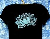 Indian Lotus Organic Cotton Tee - Black