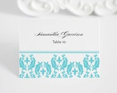 Wedding Place Card - Escort Card - Seating Card - Cascading Damask -  Deposit to Get Started
