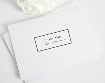 Thank You Cards - Boxed Monogram Design