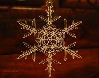 Handmade Acrylic Snowflake Ornament #3