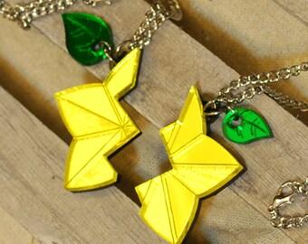 Handmade Acrylic Share a Paopu Fruit Charm Necklace
