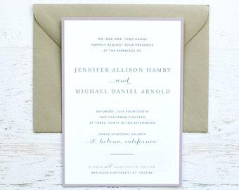 Jennifer Custom Wedding Invitation