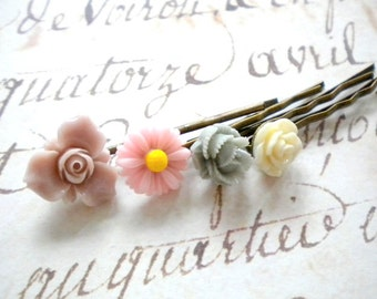 Gift For Flower Girl Pastel Bobby Pin Gifts For Girl Flower Hair Accessories Resin Hair Pin Children Bobby Pin Little Girl Hair Accessories