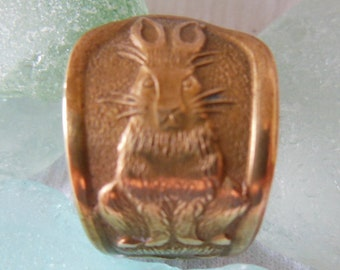 Antique Spoon Ring  Peter Rabbit    Size 7.25