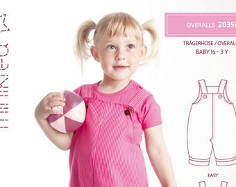 Minikrea 20350 Overall Paper Sewing Pattern for Babys & Kids Dänish Design