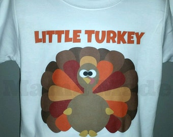 Boy's Little Turkey Shirt Boy's Thanksgiving Shirt Boy's turkey shirt little turkey shirt thanksgiving shirt little turkey tee little turkey