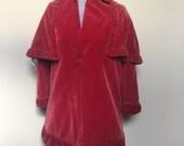 40s Era Childrens Velvet Coat