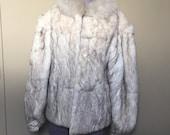 80s Rabbit Fur Coat Mademoiselle Fur Made in Hong Kong