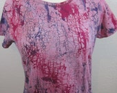 Crackle Tie Dye Pink Size Large