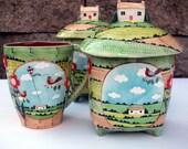 English Cottage Canister - Lidded Jar