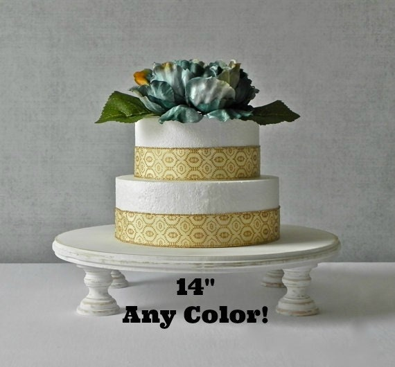 14 inch wedding cake stand 14 inch rustic cake stand any color whitewash wedding 1021