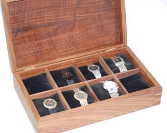 Walnut Watch Box  - Holds 8 watches