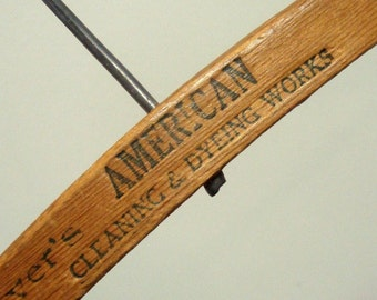 Wood Hanger Mayer's American Cleaners Richmond CA Vintage