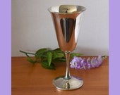 Vintage Valero Silver Plated 8 Ounce Wine Goblet Made in Spain ( 5 available)
