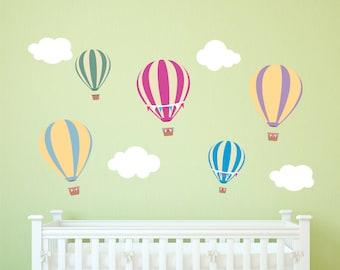 Hot Air Balloon Decals - Nursery Balloon Decals - Hot Air Balloon  Decorations - Hot Air Balloon Nursery -